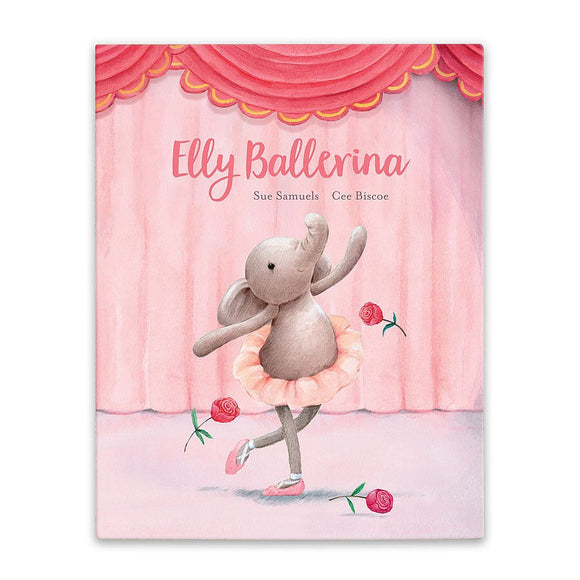 JellyCat Elly Ballerina Book - D & D Collectibles