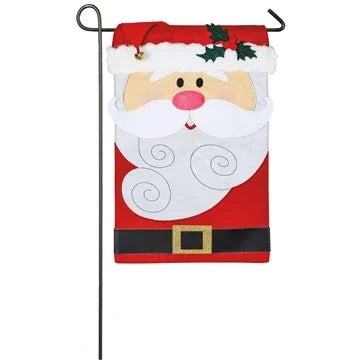 Christmas Gnomes Appliqué Garden Flag Evergreen Christmas*