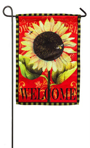 Welcome Sunflower Fall Garden Flag Evergreen - D & D Collectibles
