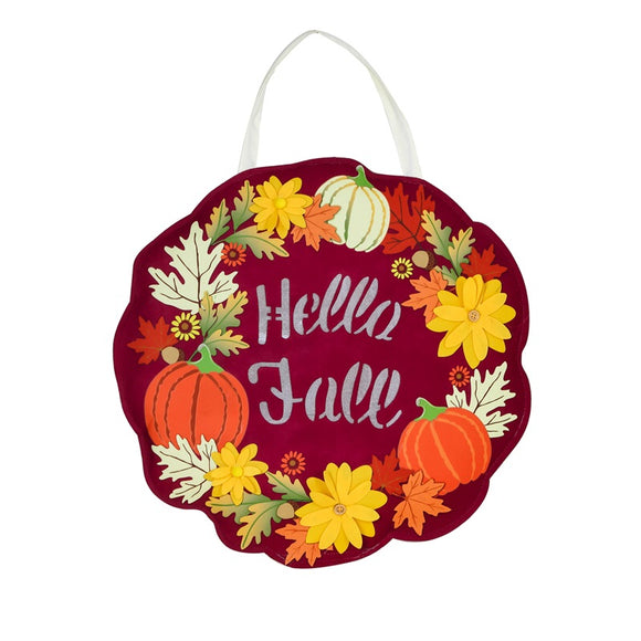 Hello Fall Lighted Door Decor - D & D Collectibles
