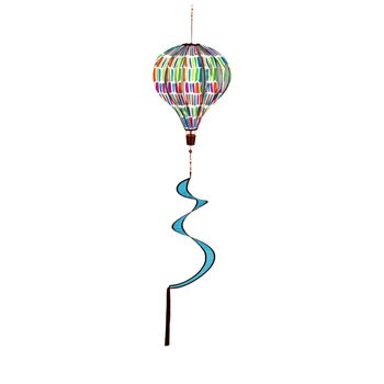 Colorful Paint Daubs Balloon Wind Spinner - D & D Collectibles
