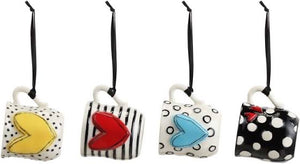 Heartful Coffee Pod Mug Ornament Set by Demdaco