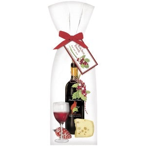 Mary Lake Thompson Holiday Red Wine Dishtowel Set of 2