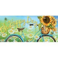 Sassafras Switch Mat Happy Days Sunflower by Evergreen
