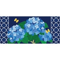 Sassafras Switch Mat Hydrangea Blossoms by Evergreen