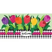 Welcome Spring Tulips Sassafras Switch Mat by Evergreen