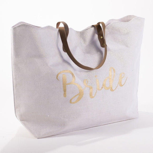 Tote For The Bride white Shimmer - D & D Collectibles