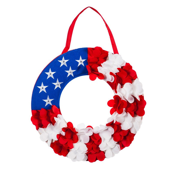 Red White & Blue Prelit Stars Door Decor Patriotic - D & D Collectibles