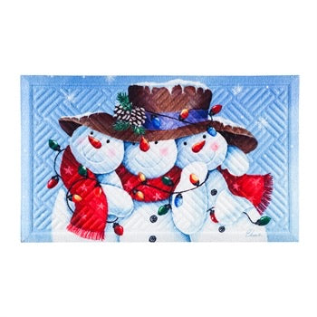 Snowman Friends Trio Embossed Floor Mat