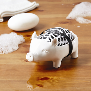 Piggy Soap and Dish Two's Company