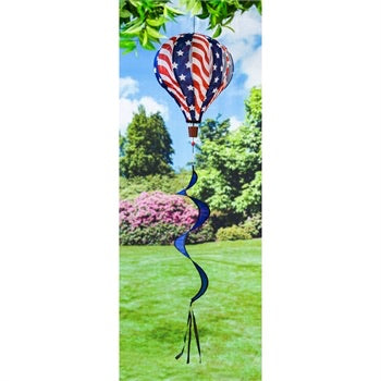 Red, White and Blue Balloon Wind Spinner - D & D Collectibles