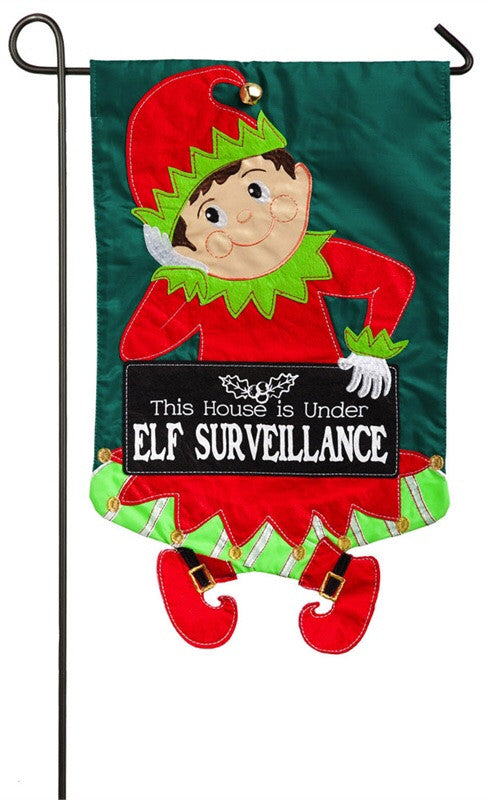 Elf Surveillance Garden Flag Evergreen - D & D Collectibles