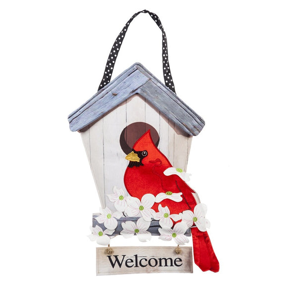 Birdhouse Cardinal Door Hanger Door Decor - D & D Collectibles