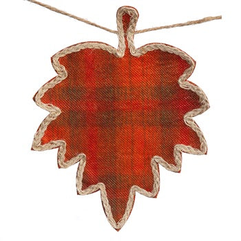 Fall Plaid Leaf Garland - D & D Collectibles