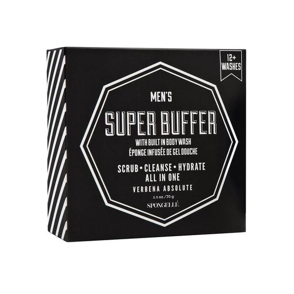 Spongelle Men's Super Buffer Verbena Absolute Body Wash Infused Buffer - D & D Collectibles
