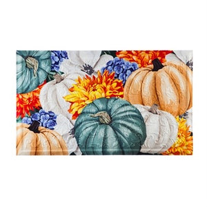 Soft Autumn Pumpkins Embossed Floor Mat
