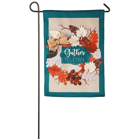 Autumn Leaves wreath Garden Flag - D & D Collectibles