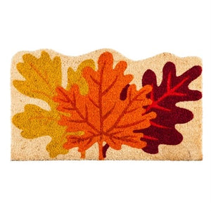 Fall Leaves Shaped Coir Mat