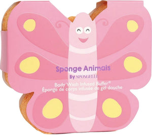 Spongelle Sponge Animals  Butterfly Body Wash Infused Buffer Fruitlicious - D & D Collectibles