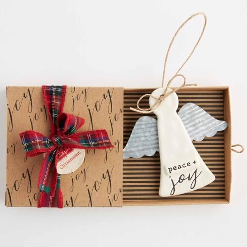 Stamped Angel Ornament by Mud Pie