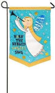 Garden Flag Angel Hark The Herold Angels Sing - D & D Collectibles