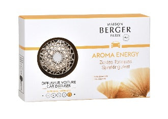Maison Berger Car Diffuser Aroma Energy Sparkling Zest formerly Lampe Berger - D & D Collectibles