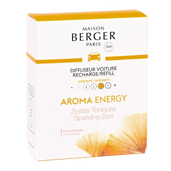Maison Berger Car Diffuser Aroma Energy Sparkling Zest Refill Lampe Berger - D & D Collectibles