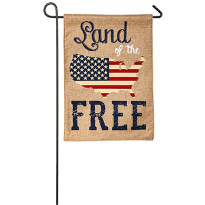 Land of the Free Patriotic Garden Flag Evergreen - D & D Collectibles