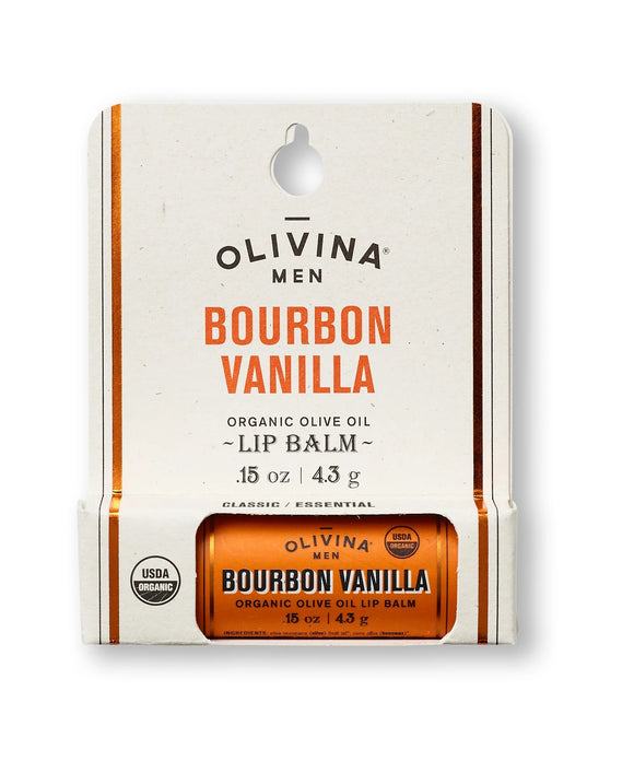 Olivina Organic Lip Balm Bourbon Vanilla 0.15 oz Made in the USA - D & D Collectibles