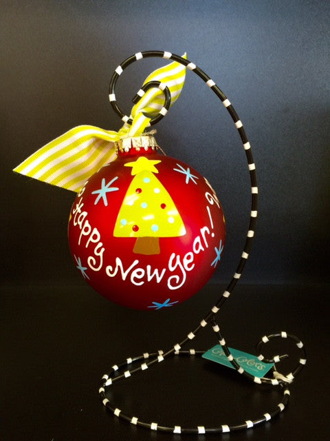 Coton Colors Merry Christmas & Happy New Year Glass Ornament - D & D Collectibles