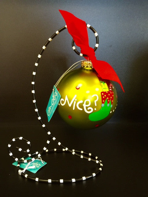 Coton Colors Naughty or Nice? Glass Ornament - D & D Collectibles