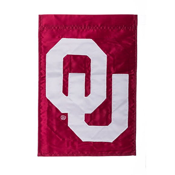 Garden Flag Oklahoma University Appliqued Evergreen - D & D Collectibles