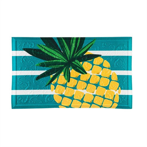 Pineapple Stripe Embossed Door Mat - D & D Collectibles