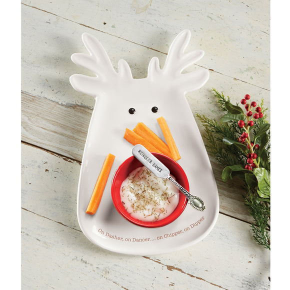 Reindeer Dip and Chip Set by Mud Pie
