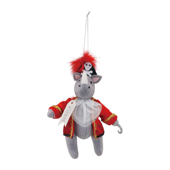 Ronald The Rhino Christmas Ornament - D & D Collectibles