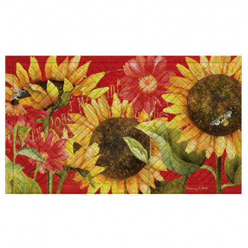 Sunflower Garden Embossed Floor Mat - D & D Collectibles