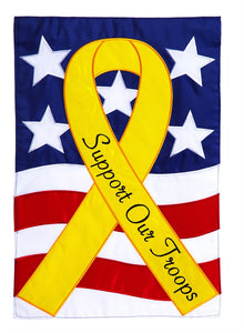 Support Our Troops Garden Flag Applique - D & D Collectibles
