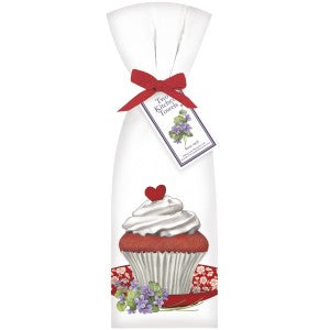 Mary Lake Thompson Red Velvet Cupcake Dishtowel Set of 2