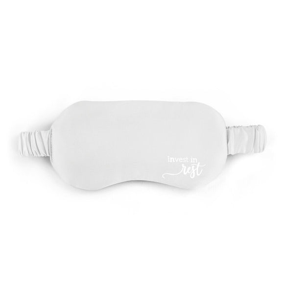 Satin Eye Mask Gray Invest In Rest by Demdaco
