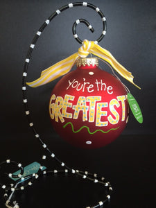 Coton Colors You're The Greatest Glass Ornament - D & D Collectibles
