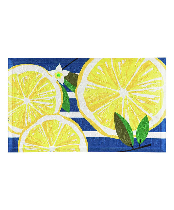 Lemon Slice Embossed Door Mat - D & D Collectibles