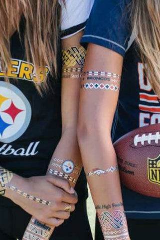 NFL Jewelry Flash Tattoos - 2 pack