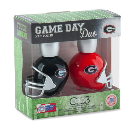 NCAA Game Day Duo Nail Polish - Georgia