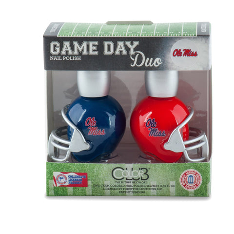 NCAA Game Day Duo Nail Polish - Mississippi