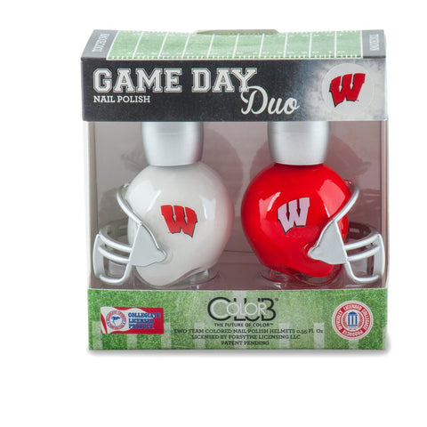 NCAA Game Day Duo Nail Polish - Wisconsin