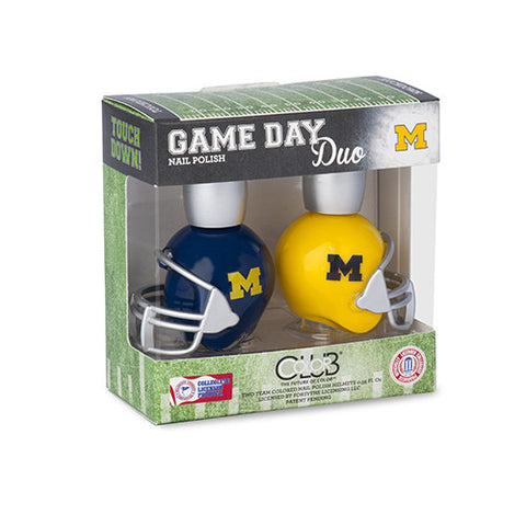 NCAA Game Day Duo Nail Polish - Michigan