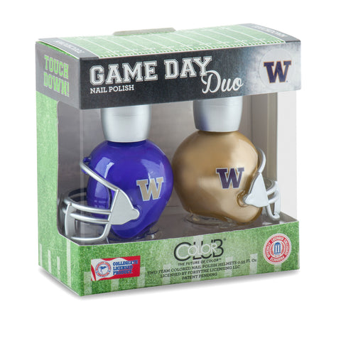 NCAA Game Day Duo Nail Polish - Washington