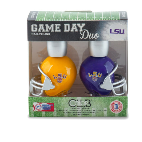 NCAA Game Day Duo Nail Polish - LSU