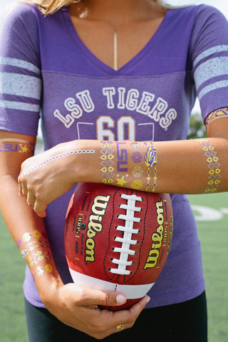 NCAA Jewelry Flash Tattoos - 2 pack