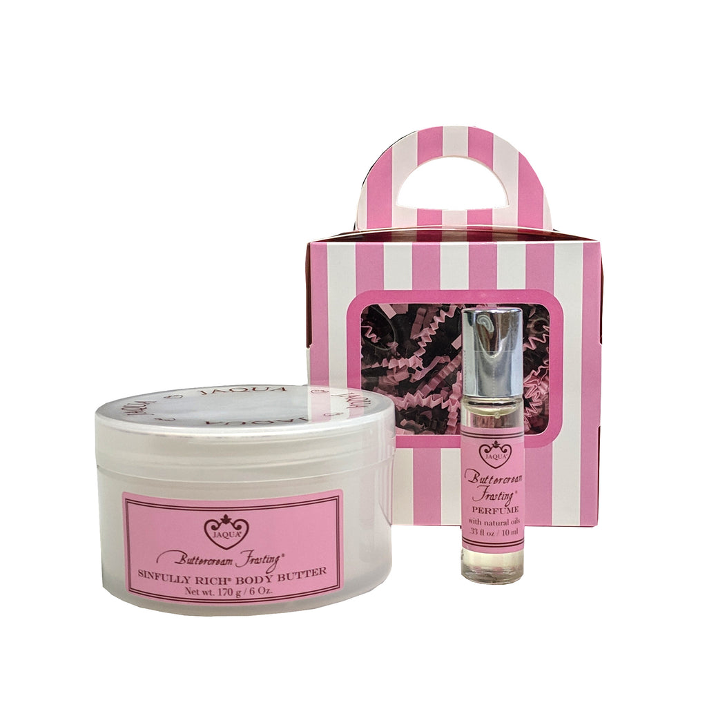 buttercream frosting perfume oil & body butter gift set